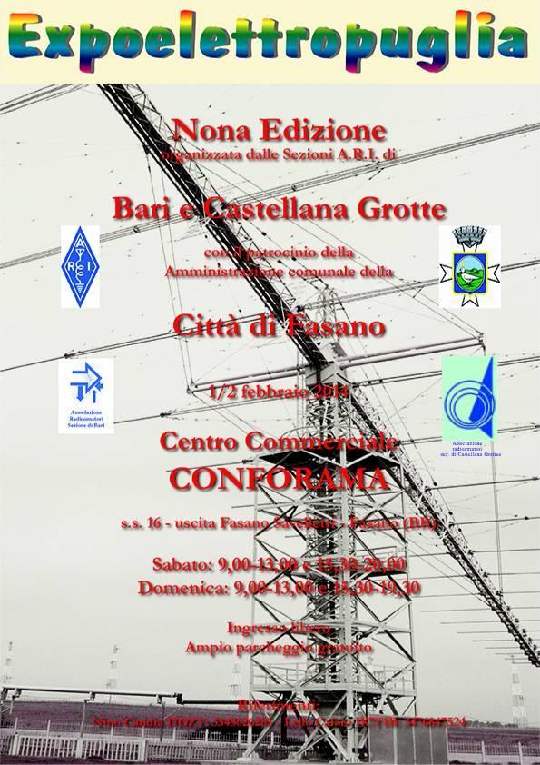 ExpoElettroPuglia, Fasano (BR) 1/2 Φεβρουάριος 2014