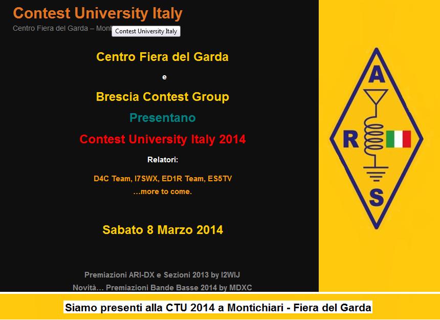A.R.S. Italia presente alla CTU 2014