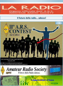 Prima pagina LA RADIO 12-2014