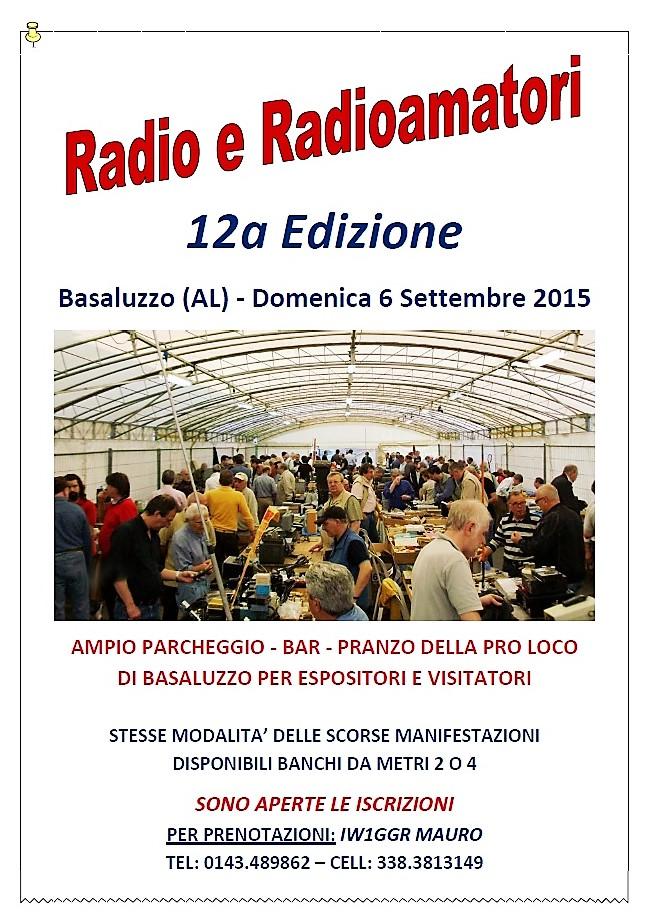 Mostra-Scambio Radio e Radioamatori 2015: Basaluzzo (AL) – 06 Σεπτέμβριο