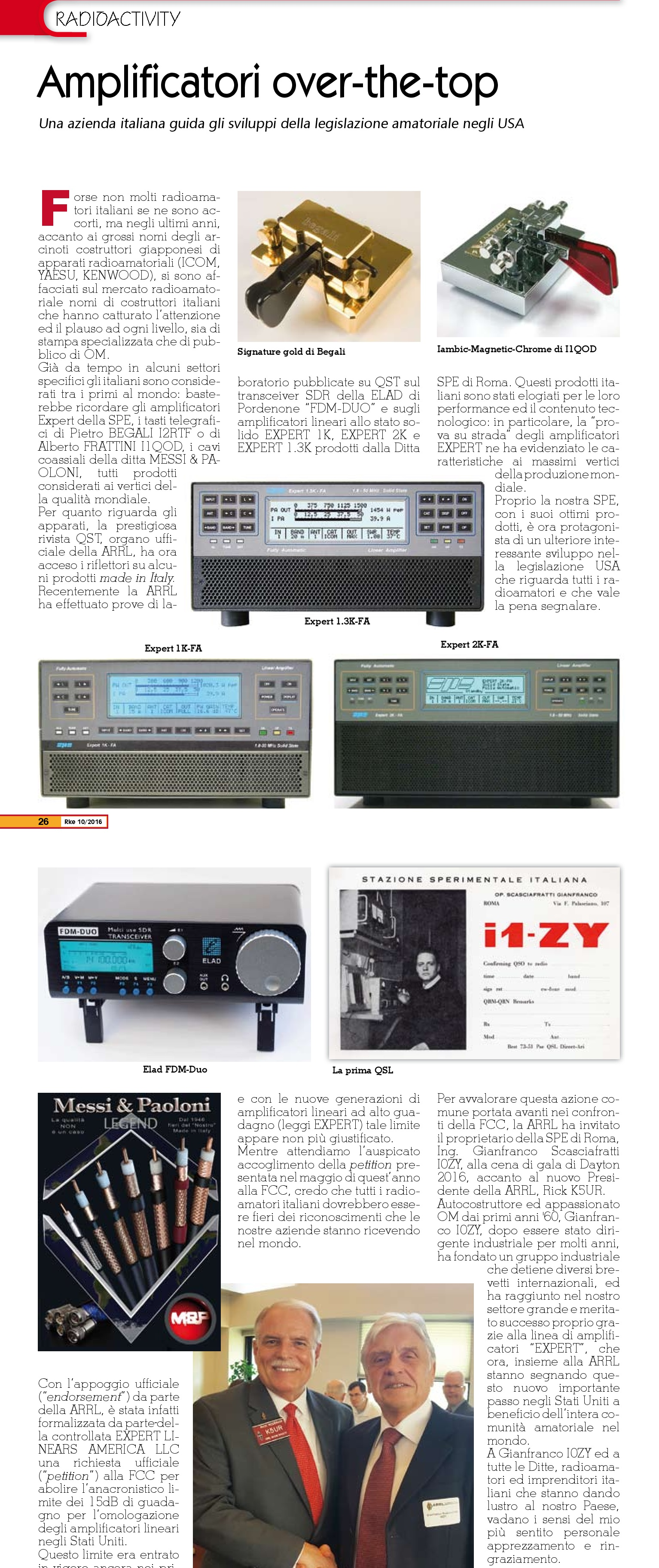 Articolo I4AWX Radio Kit novembre 2016