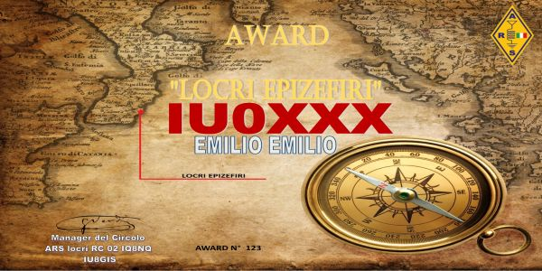 """ARS RC02 – Utmärkelsen """"Locri Epizifiri"""""""