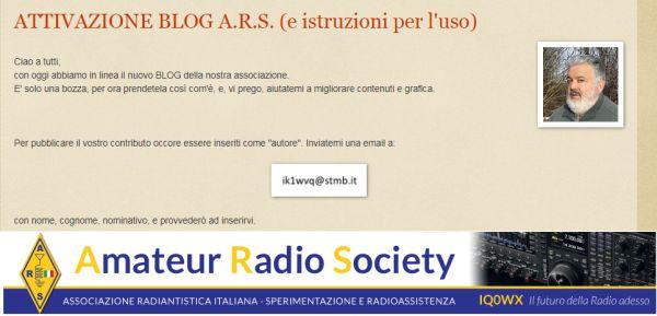 Attivato Blog ARS Italia.