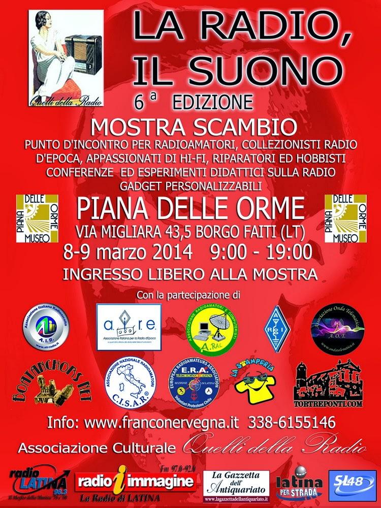 La Radio, il Suono – Mostra scambio, Borgo Faiti (LT) 8/9 marzo 2014