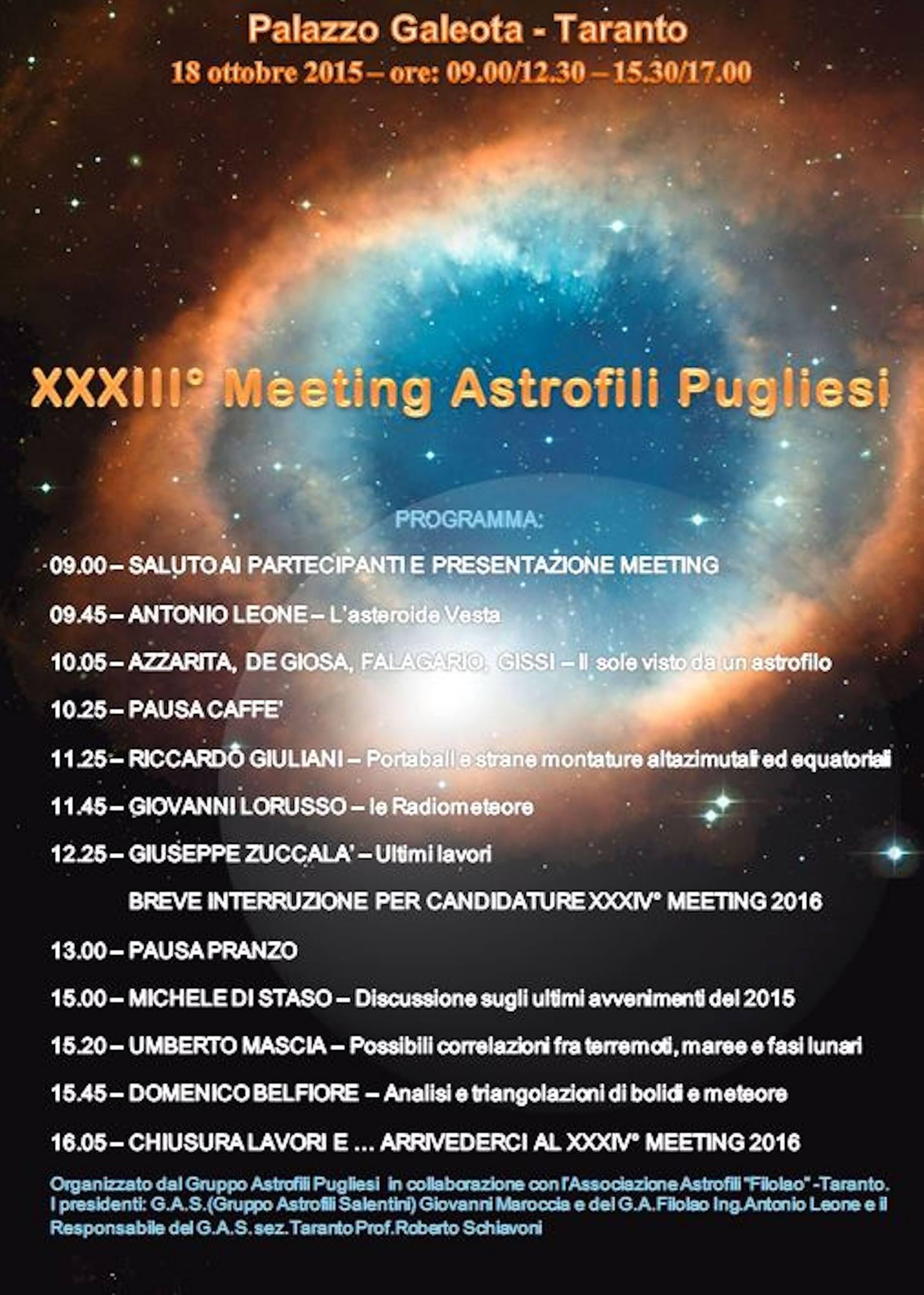 XXXIII° Meeting Astrofili Pugliesi